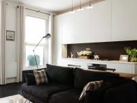 Черный диван – правила выбора идеальной обивки. 113 фото сочетаний дивана черного цвета с элементами интерьера и декора