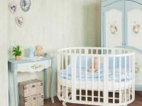 Круглая кроватка: виды современных конструкций и цветовых решений (100 фото)