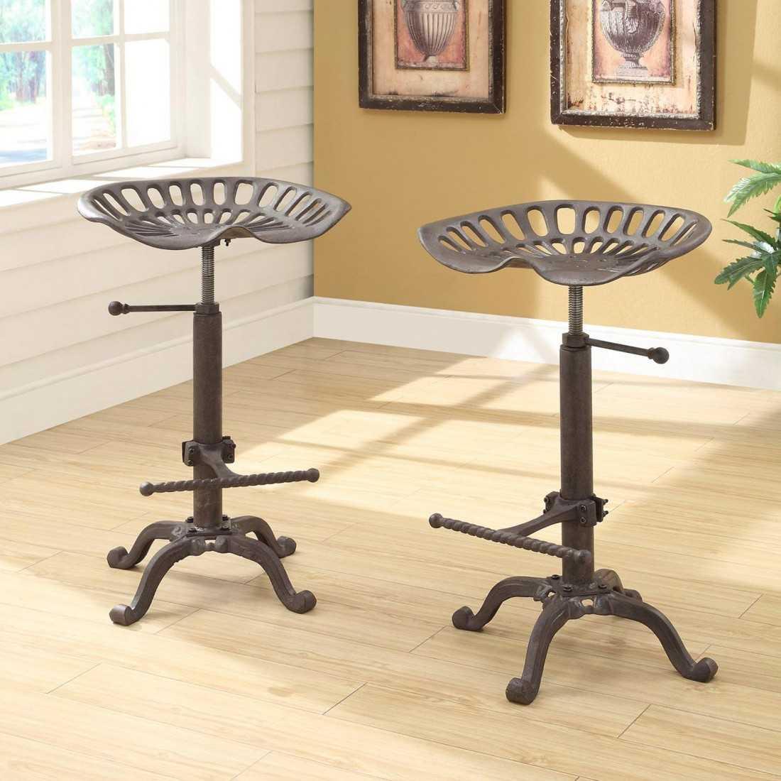 Барные стулья - металлические, деревянные, пластиковые варианты и модели из комбинированных материалов (88 фото)