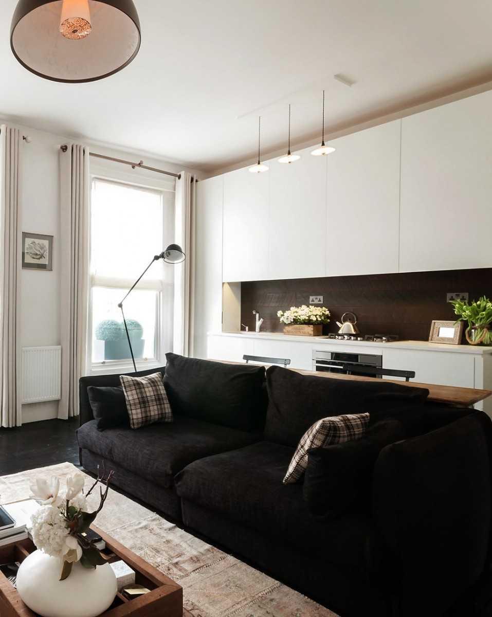 Черный диван - правила выбора идеальной обивки. 113 фото сочетаний дивана черного цвета с элементами интерьера и декора