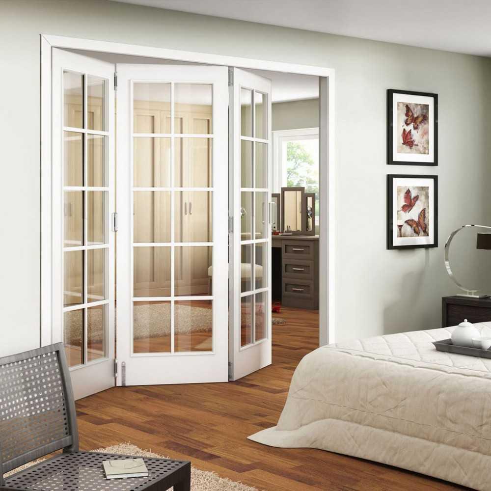 Дверь гармошка – подбор лучших материалов и оптимального места установки (101 фото-идея)