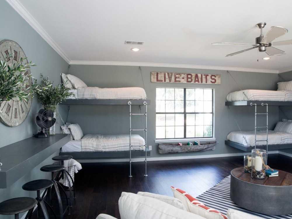 Двухъярусные кровати в интерьере детских комнат. | 750x1000