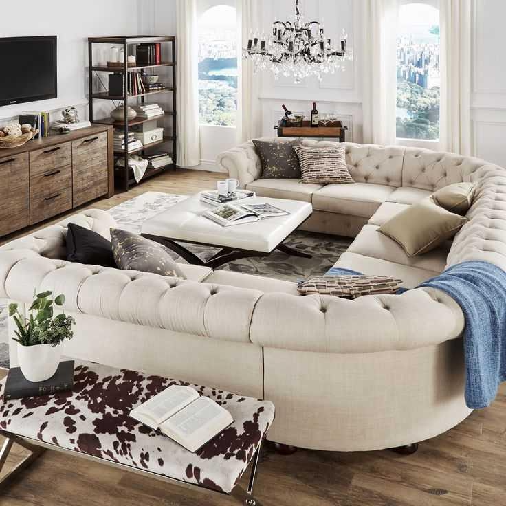 П-образный диван – грамотный выбор мебели и основные типы моделей (114 фото)