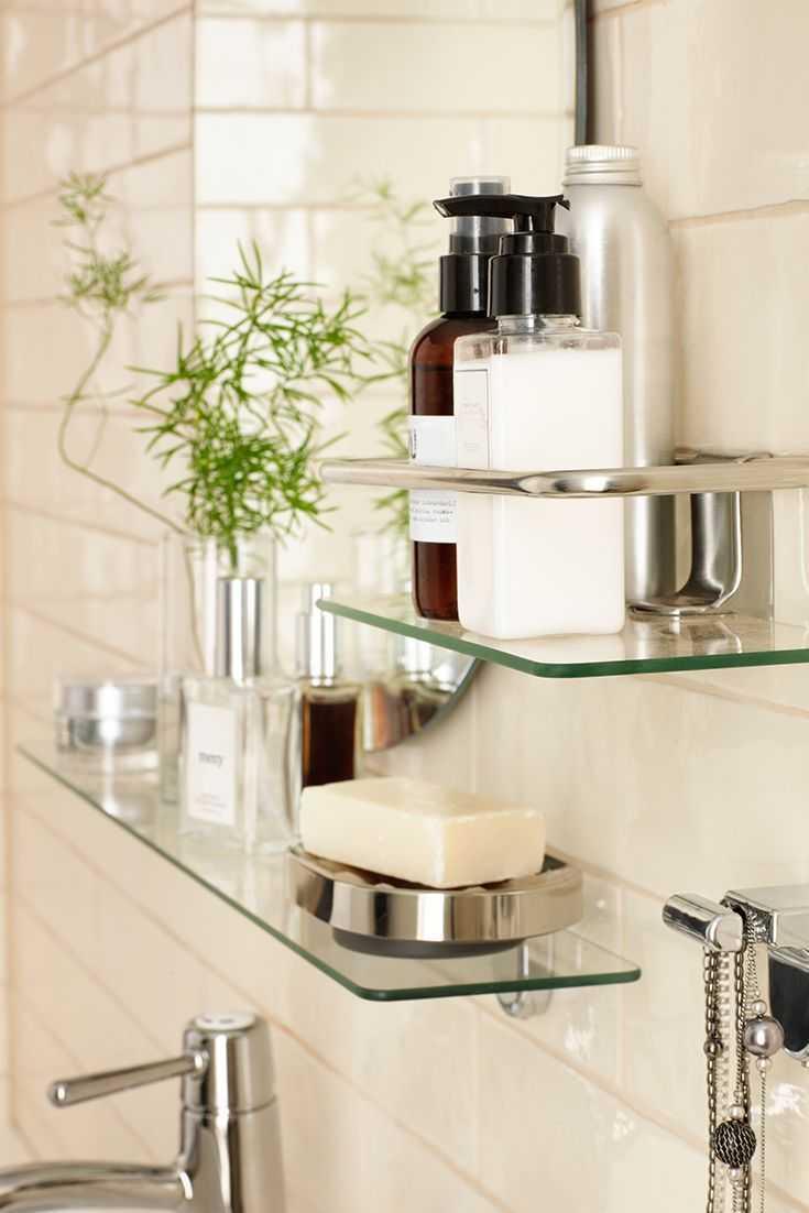 Полка для ванной - выбор материала и стильное сочетание с аксессуарами (106 фото-идей)
