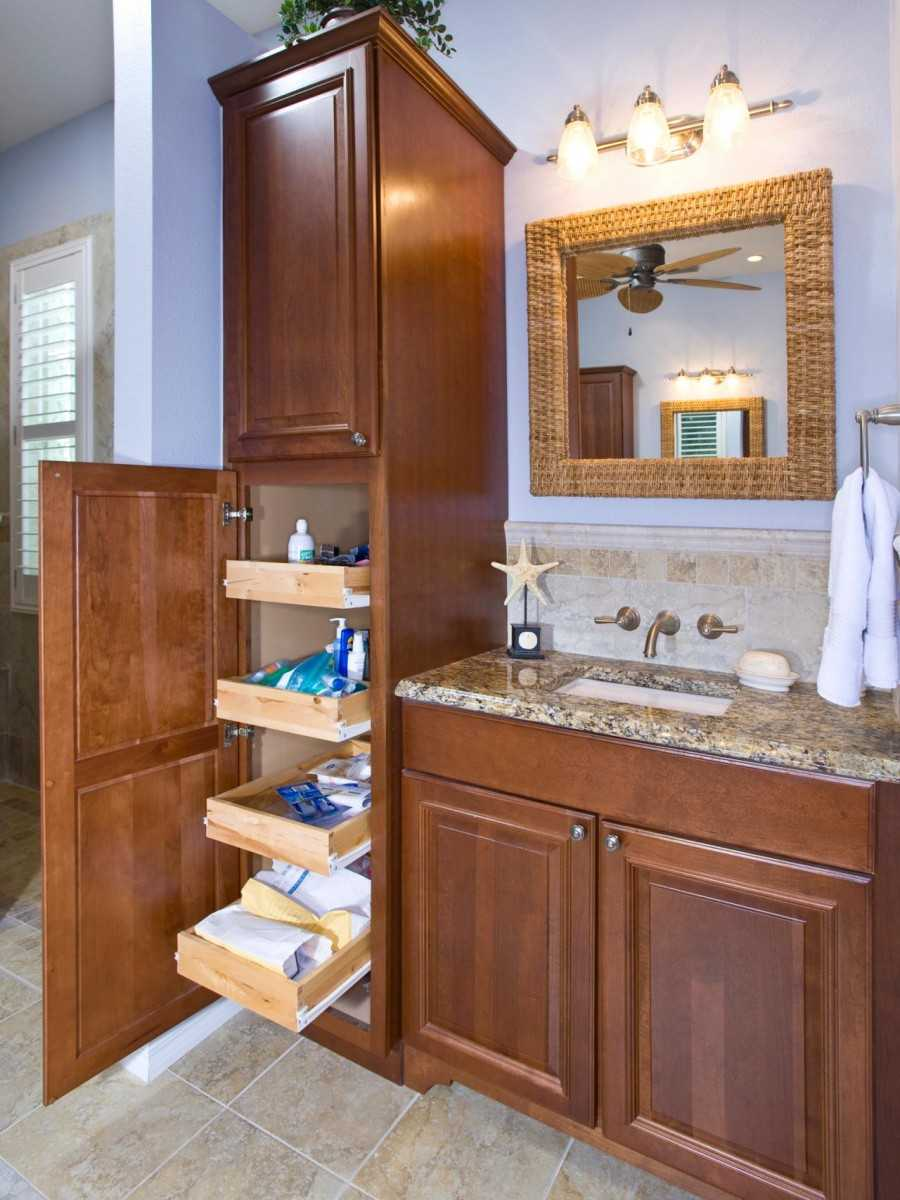 Шкаф-пенал для ванной – современные разновидности. 78 фото идеальных дизайнерских шкафов
