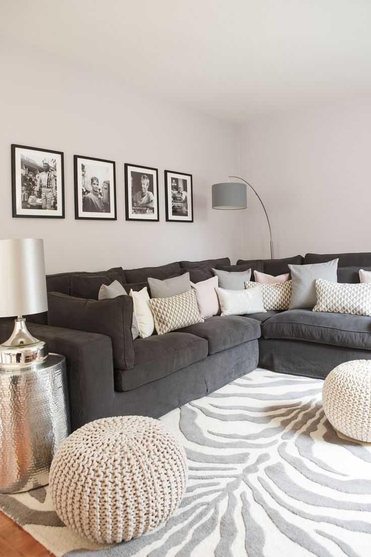 Серый диван – с какими цветами и стилями сочетается диван серого или металлического цвета (120 фото)