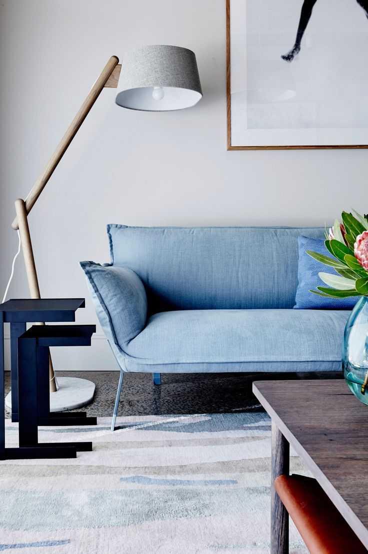 Синяя мебель в интерьере: 120 фото примеров использования в разных комнатах