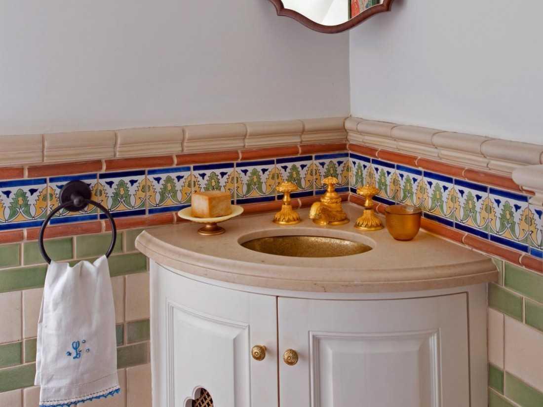 Угловые раковины для ванной – выбор материала и разновидности стильных моделей (101 фото)