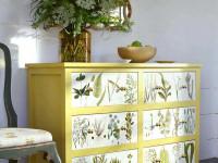 Декупаж мебели — примеры использования обоев и подручных материалов (102 фото)