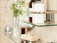 Полка для ванной — выбор материала и стильное сочетание с аксессуарами (106 фото-идей)