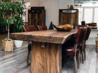 Стол из массива дерева — лучшие дизайнерские изделия из твердых сортов дерева (92 фото + видео)