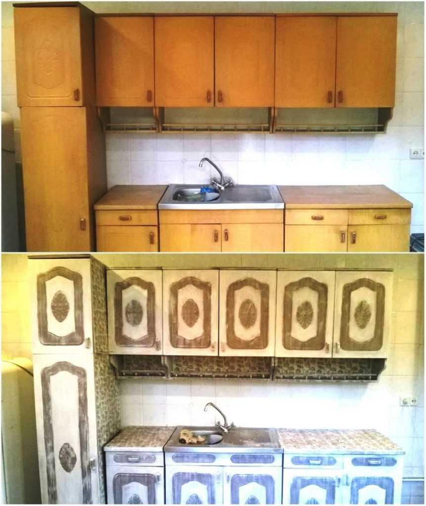 Как переделать старую кухонную мебель своими руками фото