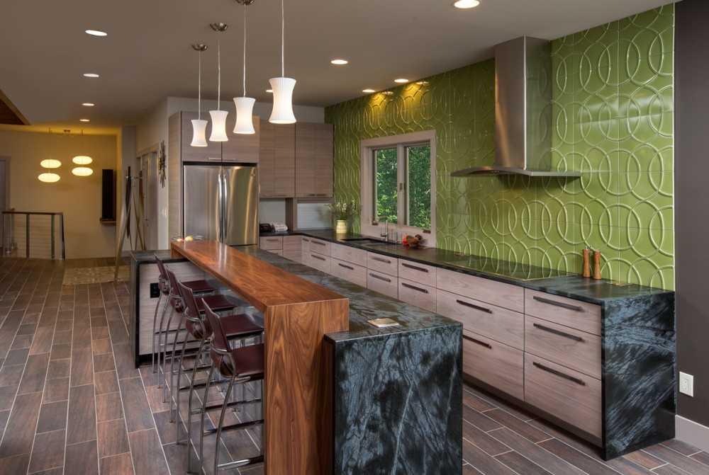 Барная стойка для кухни — 117 фото современных вариантов дизайна кухонь с барной стойкой