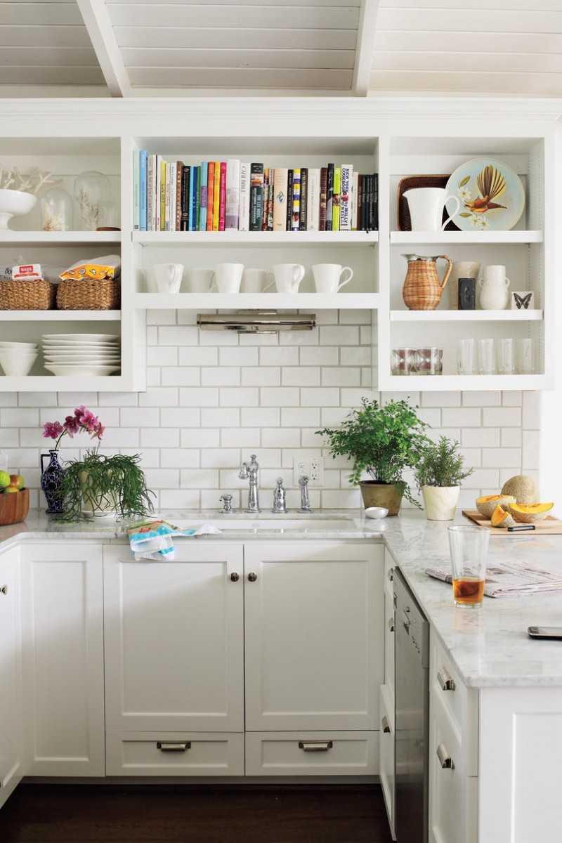 Полочки и шкафы на кухню дизайн Открытые полки на кухне: за и против Идеи для