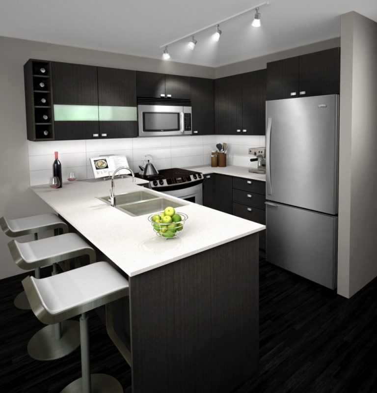 Кухня в черно серых тонах фото