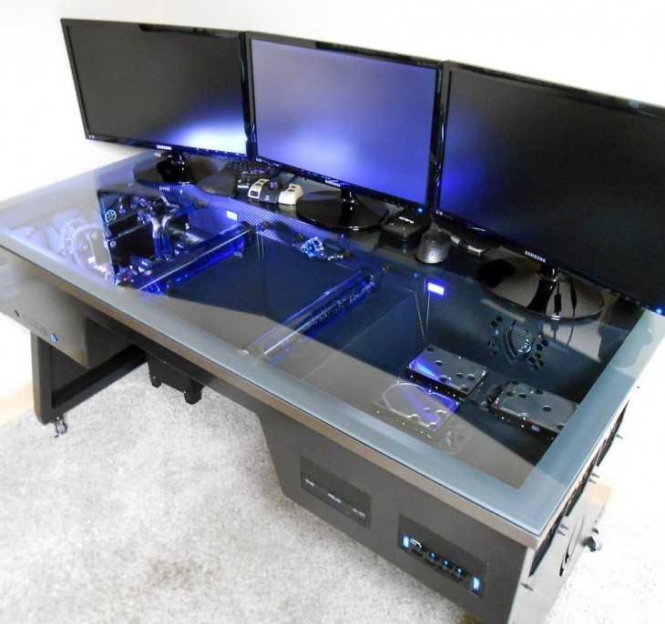 Компьютер вмонтированный в стол своими руками 95