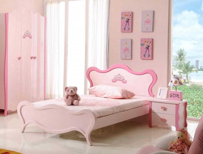 Кровать для девочки — 91 фото безопасных и стильных дизайнерских идей для детей разного возраста