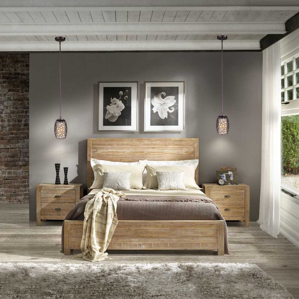 Спальни из массива дерева - современные идеи подбора мебели