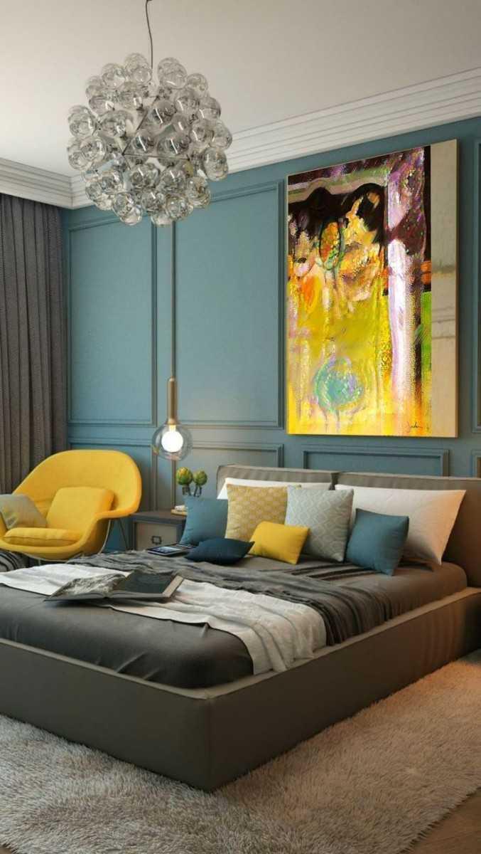 Цветовая гамма спальни дизайн