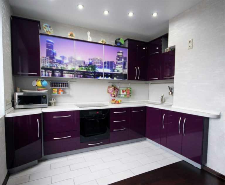Кухня баклажан черный