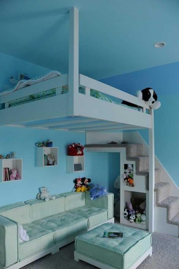 Как сделать спальню под потолком 571