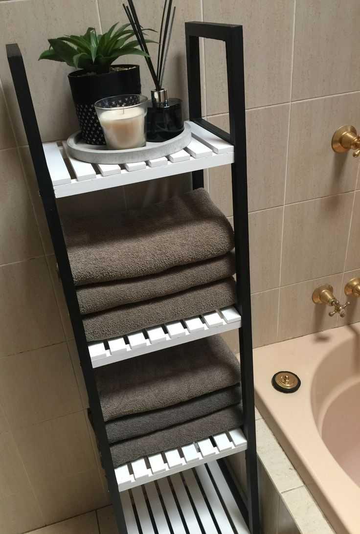 Black bathroom shelving ideas