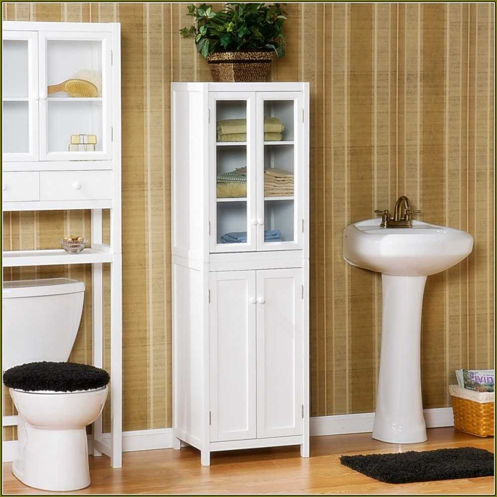 Bathroom corner storage cabinet