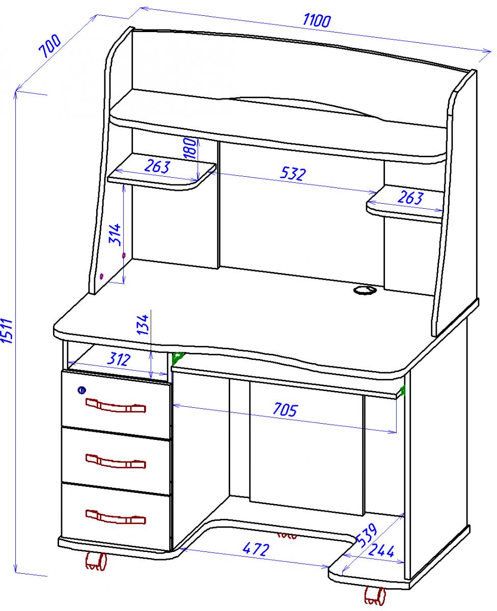 Компьютерный стол своими руками чертежи схемы советы