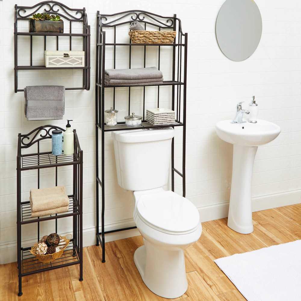 Стеллаж для ванной 108 фото идей и хитростей при
