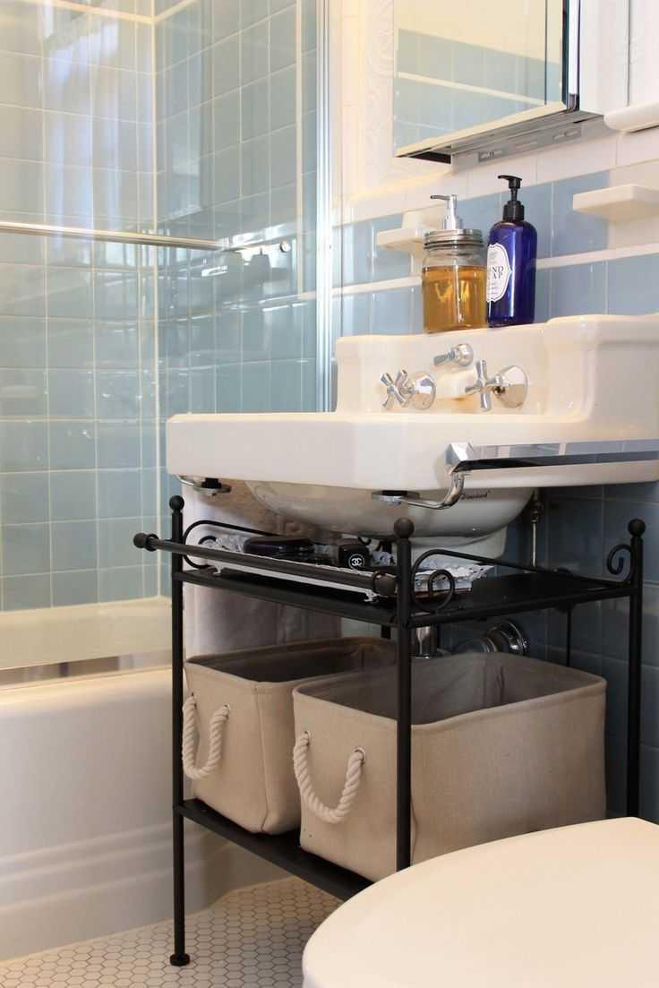 Как сделать тумбу под раковину в ванную