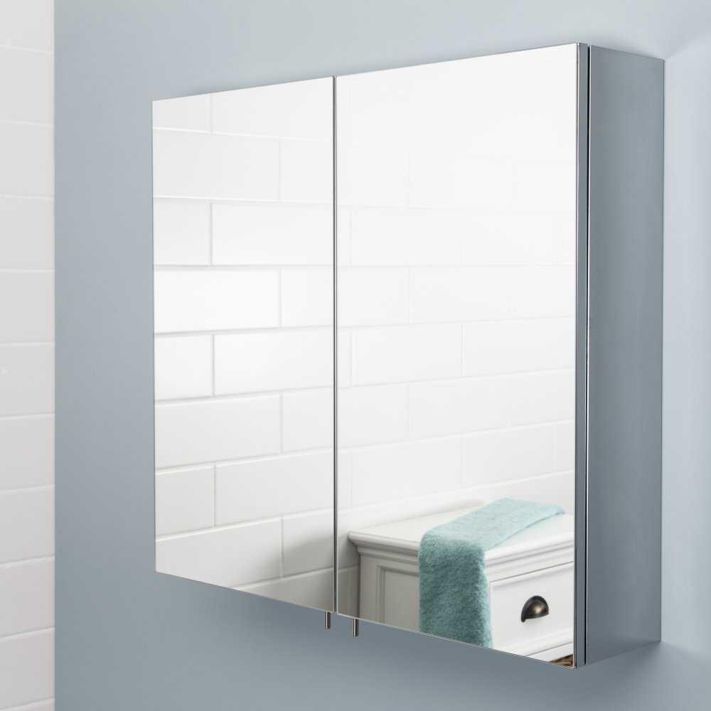 Зеркальный шкаф в ванную — примеры использования, дизайн и наполнение навесного шкафа (79 фото)