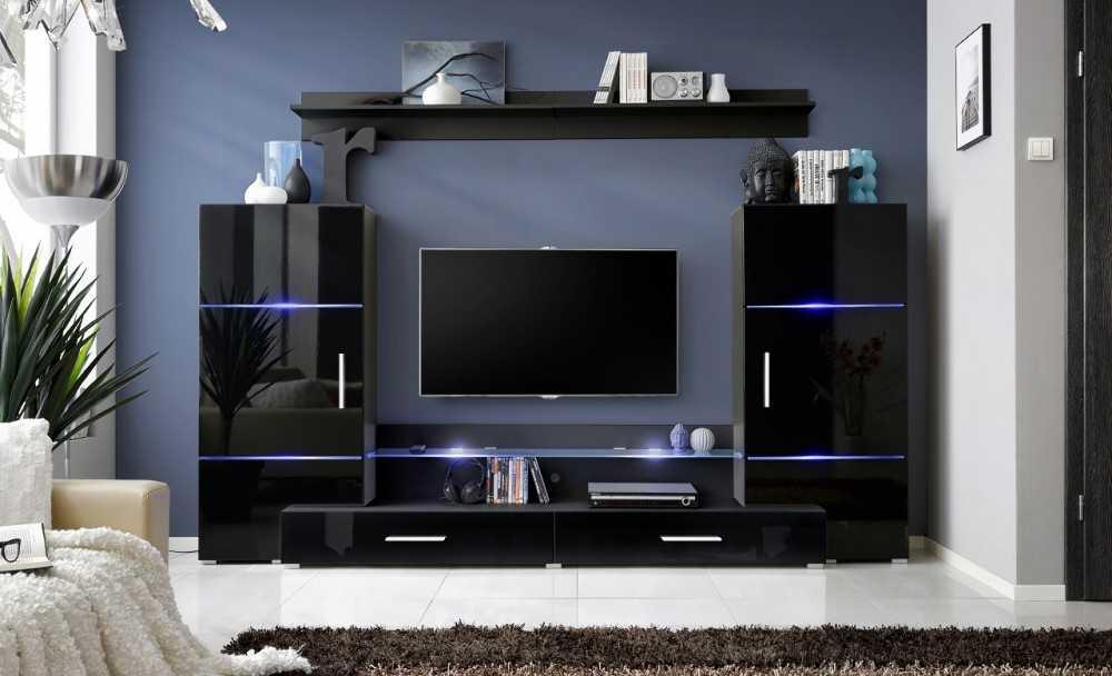 Стенка в гостиную — 100 фото популярных конфигураций и модных стилей меблировки